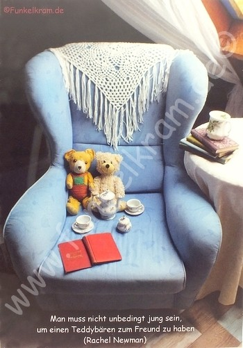 "Teddykarte ""Teatime"""