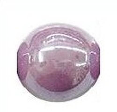 Keramikperle Karibu AB ca. 18mm violett 1Stk