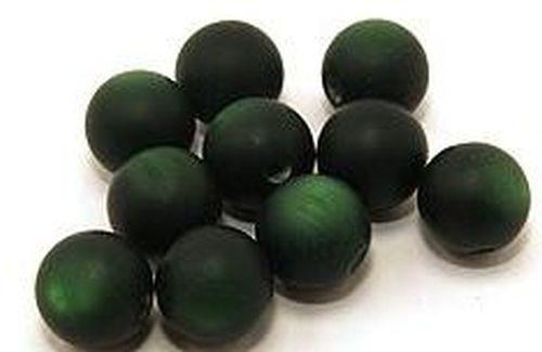 Polar-Perlen MATT ca. 12mm #20 dunkelgrün 10Stk