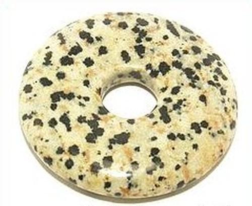 Dalmatiner-Jaspis Donut ca. 40 x 40mm 1Stk