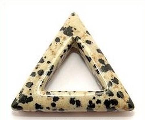 Anhänger Dalmatinerjaspis Dreieck ca. 35mm