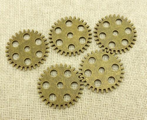 Steampunk Zahnräder Factory ca. 25x25x2mm antikfarben
