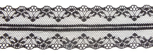 Tüllspitze Nostalgia ca. 5 cm breit schwarz 0,5m