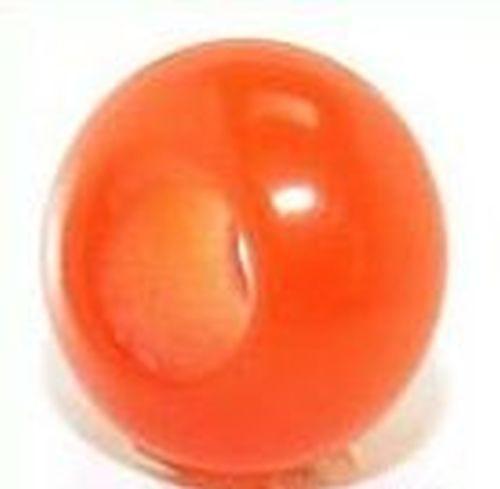 Großloch Cateye-Ring ca. 10 x 5mm rot 1Stk