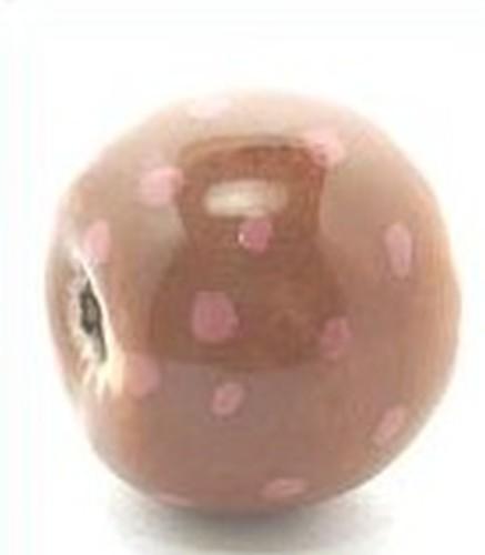 Keramikperle Katika ca. 18mm kaffee