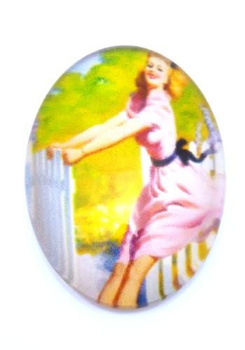 Burlesque Cabochon P oval ca. 25 x 18mm