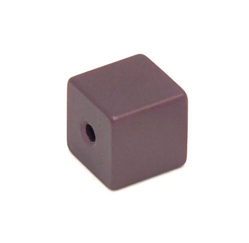 Loxalu® Beads Würfel ca. 8 x 8mm aubergine 1Stk