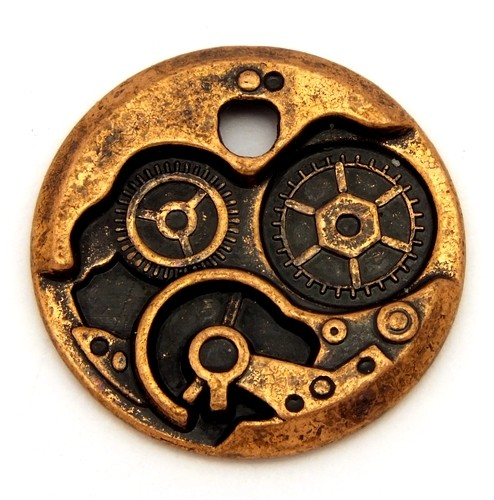 Steampunk Zahnrad Uhrwerk KLEIN ca. 24 x 2,5mm kupferfarben 1Stk
