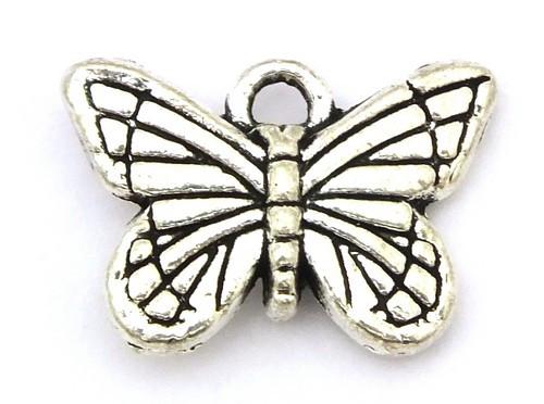 Metallanhänger Papillon ca. 16 x 11mm altsilberfarben