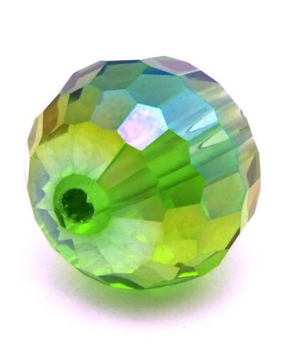 Glasschliffperle ca. 12mm grün AB
