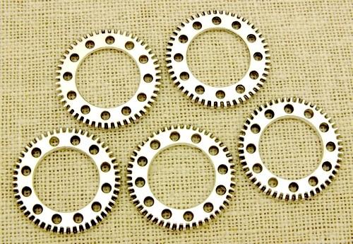 Steampunk Zahnräder Clockwork ca. 25x25x2mm silberfarben