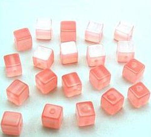 Polar-Würfel glänzend ca. 8mm #14 rosa