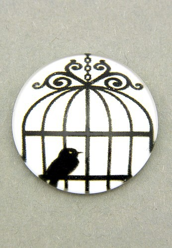 schwarz-weiß Cabochon Käfig F ca. 20mm 1Stk