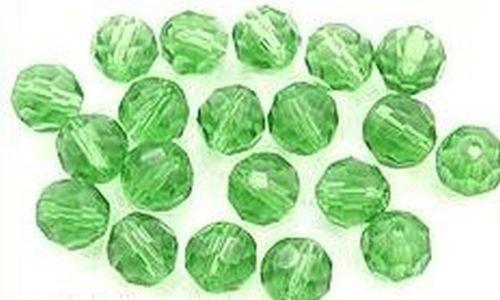 Glasschliffkugeln ca. 8mm grün 20Stk