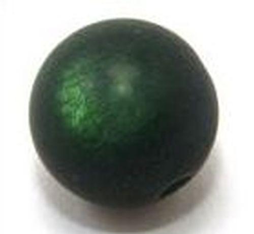 Polar-Perle MATT ca. 17mm #20 dunkelgrün 1Stk
