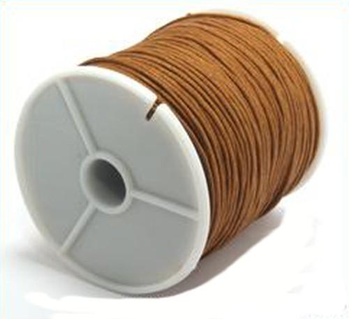 Schmuckkordel, Länge ca. 73m, Stärke ca. 1mm, hellbraun