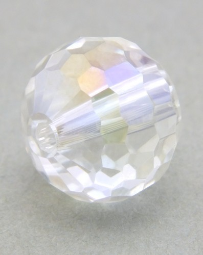 Glasschliffperle ca. 12mm klar AB