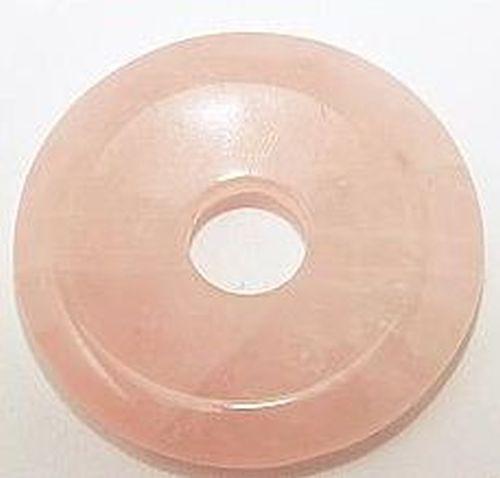 Rosenquarz Donut, ca. 40 x 40mm 1Stk