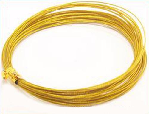 Schmuckdraht nylonummantelt 0,45mm goldfarben 5m