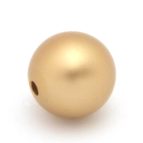 Loxalu® Beads Kugel ca. 10mm altgoldfarben
