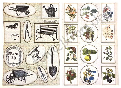 Cutout Sticker Bogen Garden Life DIN A4 1Stk
