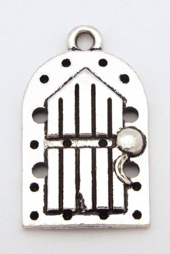 Elfentür Feenwald ca. 24 x 14mm altsilberfarben 1Stk