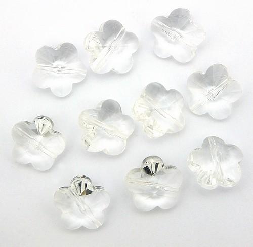 Blütenperlen ca. 14 x 14 x 8mm #1 klar
