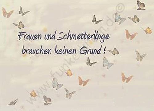 """Karte """"Frauen und Schmetterlinge..."""""""