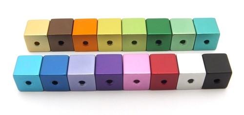 Loxalu® Beads Würfel Mix ca. 8 x 8mm 16Stk