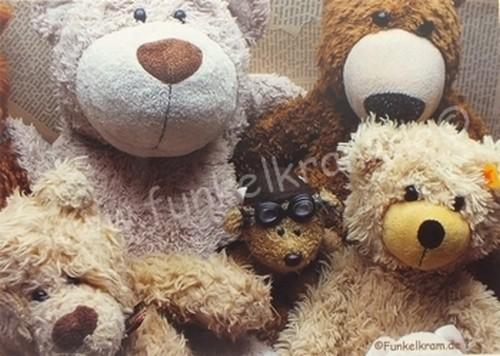"""Teddykarte """"Friends forever"""""""