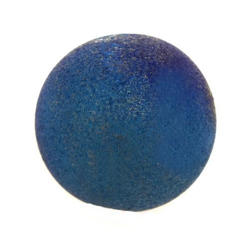 Achatkugel bedampft ca. 16mm pfauenblau 1Stk