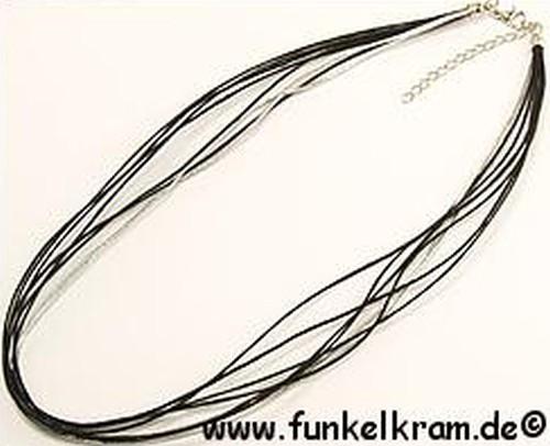 mehrsträngige Schmuckkordelkette ca. 47cm schwarz 1Stk