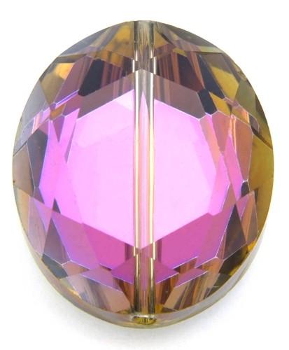 Glasschliff-Oval F ca. 24 x 20mm metal lilac