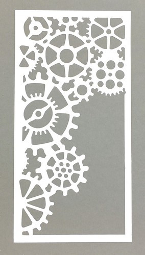 Schablone Zahnrad ca. 12x23mm 1Stk