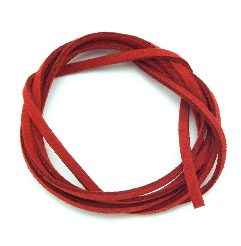 Veloursband ca. 3mm breit rot 1m