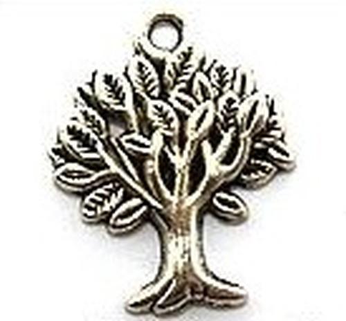 Metallanhänger Baum ca. 17 x 22mm silberfarben