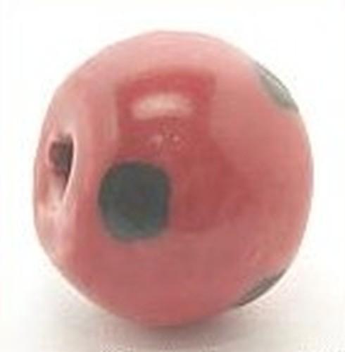 Keramikperle Kikubwa ca. 18mm rot