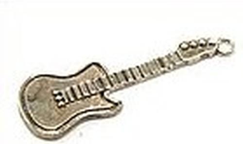 Metallanhänger Gitarre altsilberfarben ca. 44 x 14mm