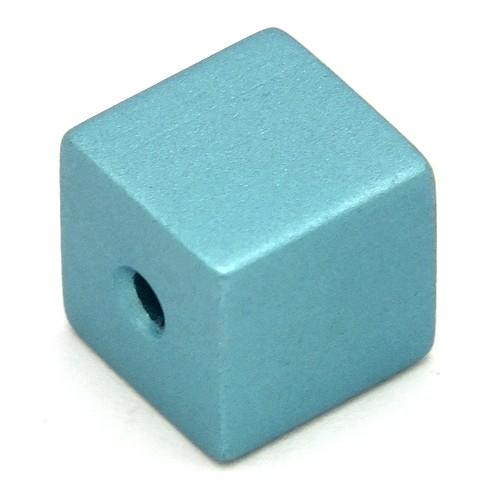 Loxalu® Beads Würfel ca. 8 x 8mm rauch-mint 1Stk