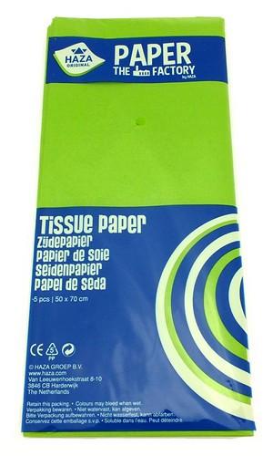 Seidenpapier 5 Bögen a 50 x 70 cm grün