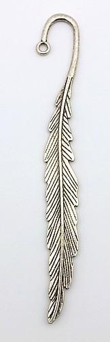 Lesezeichen Feder KLEIN ca. 114 x 12mm altsilberfarben
