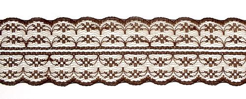 Tüllspitze Nostalgia ca. 5 cm breit kaffeebraun 50 cm lang