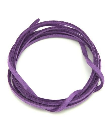 Veloursband ca. 3mm breit lila 1m