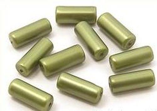 Glaswalzen ca. 6 x 15mm moos