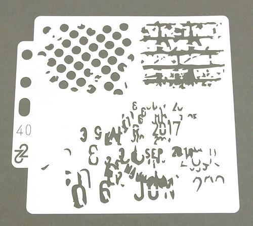 "Schablone ""divers"" ca. 13x14mm 1Stk"