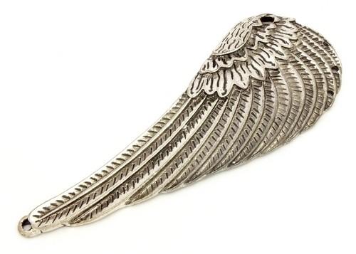 Steampunk Flügel ca. 10 x 3,8cm silberfarben