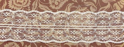 Tüllspitze Nostalgia ca. 5 cm breit weiß 0,5m