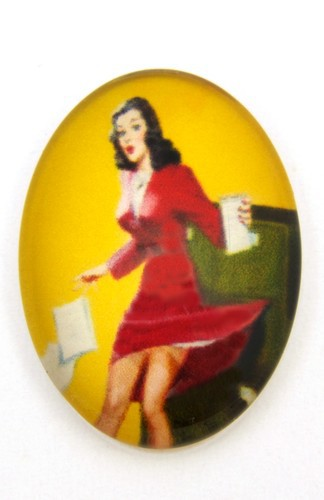 Burlesque Cabochon R oval ca. 25 x 18mm