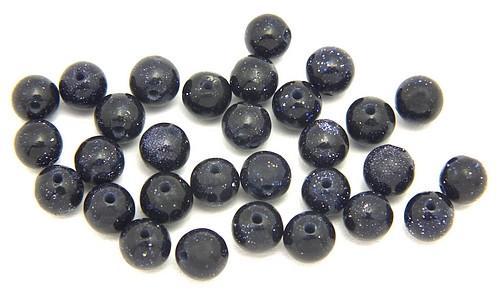 Blaufluss Kugeln ca. 4mm 30Stk
