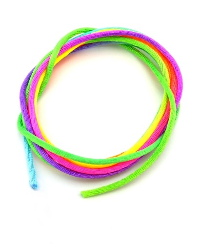 Satinband ca. 2mm neonbunt 1m
